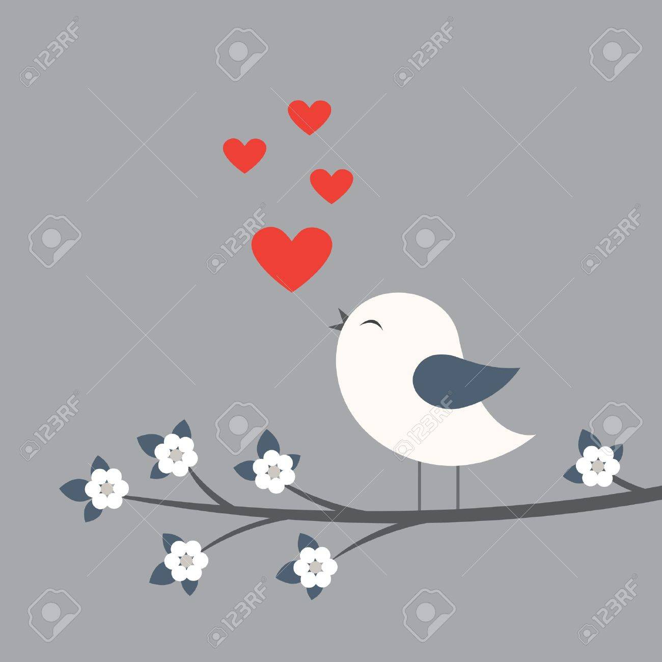 Cute Bird Card For Valentine Day Royalty Free Cliparts Vectors – Bird Valentine Card