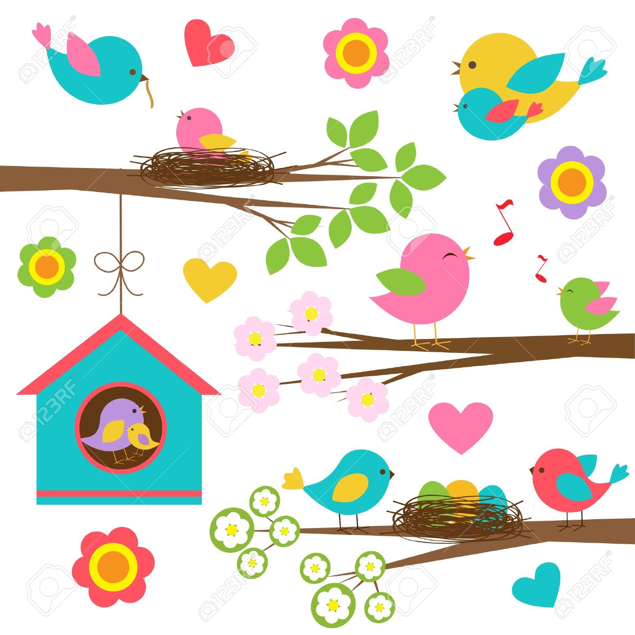 6,619 Bird Nest Stock Illustrations, Cliparts And Royalty Free ...