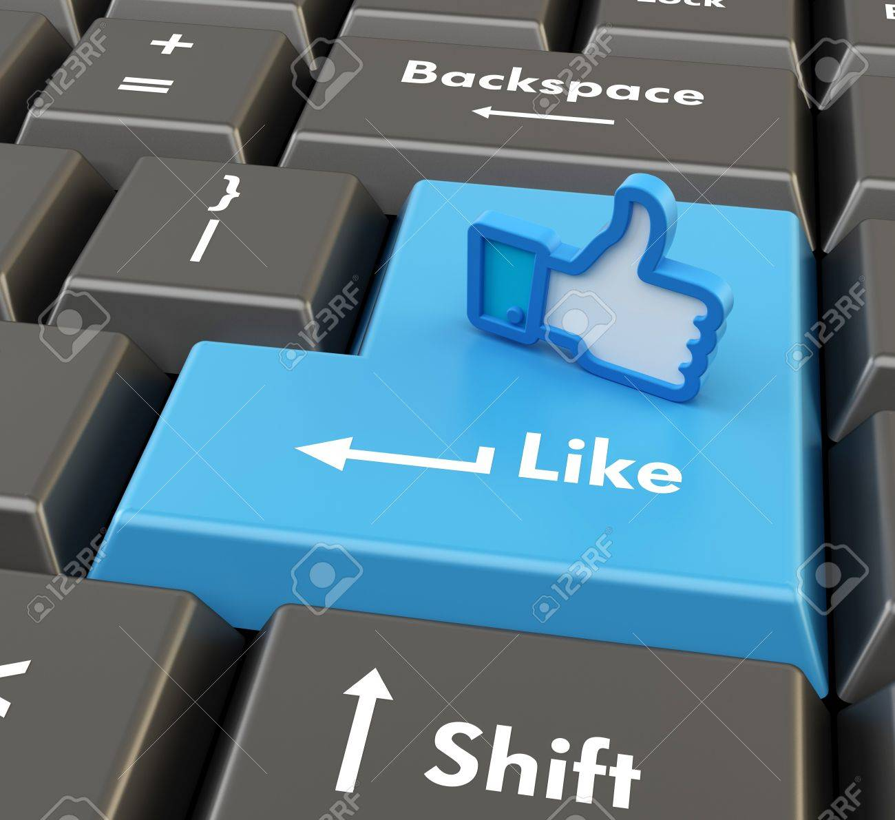 3d button add friend with thumbs up icon Stock Photo - 15664533