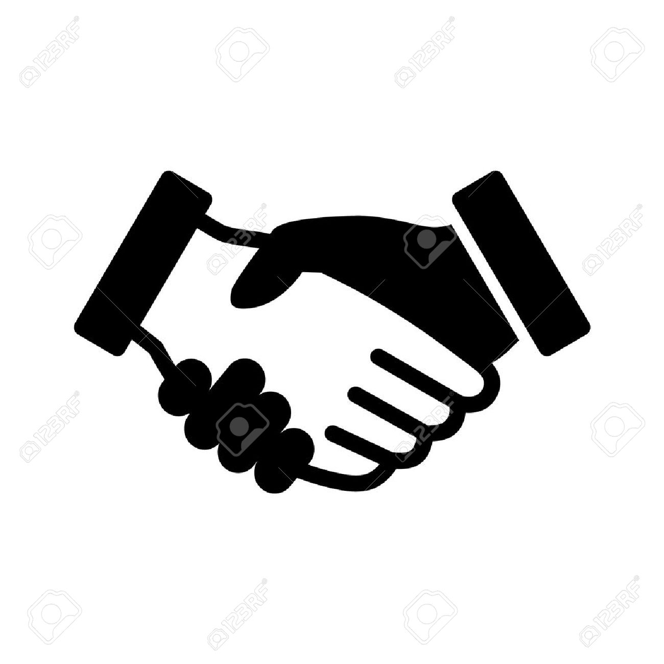 Business Agreement Handshake Line Art Icon For Apps And Websites ...