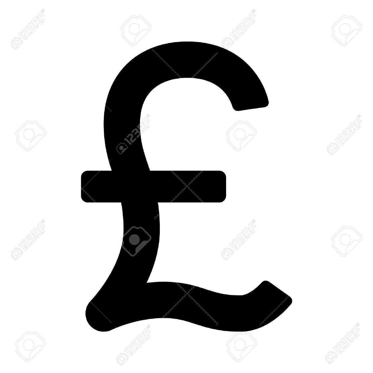 Livre Sterling Symbole Monetaire Icone Plat Pour Les Applications Et Sites Web