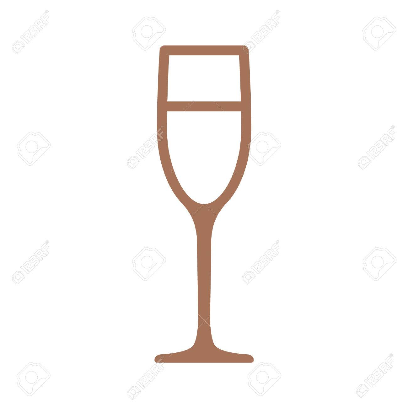 champagne flute glass line art icon for apps and websites royalty rh 123rf com champagne glass clipart free champagne glass clipart jpg