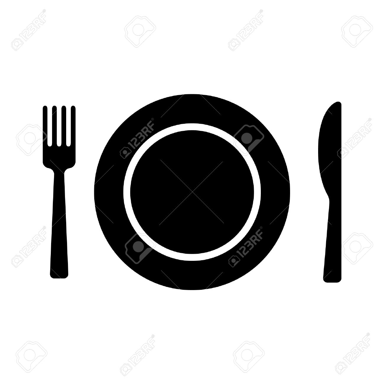Dining flat icon with plate fork and knife for apps and websites Stock Vector -  sc 1 st  123RF.com & Dining Flat Icon With Plate Fork And Knife For Apps And Websites ...