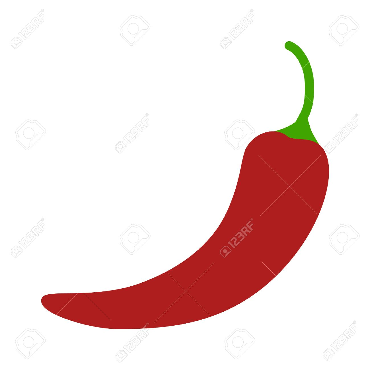 Hot chili pepper flat icon for apps and websites - 42419530