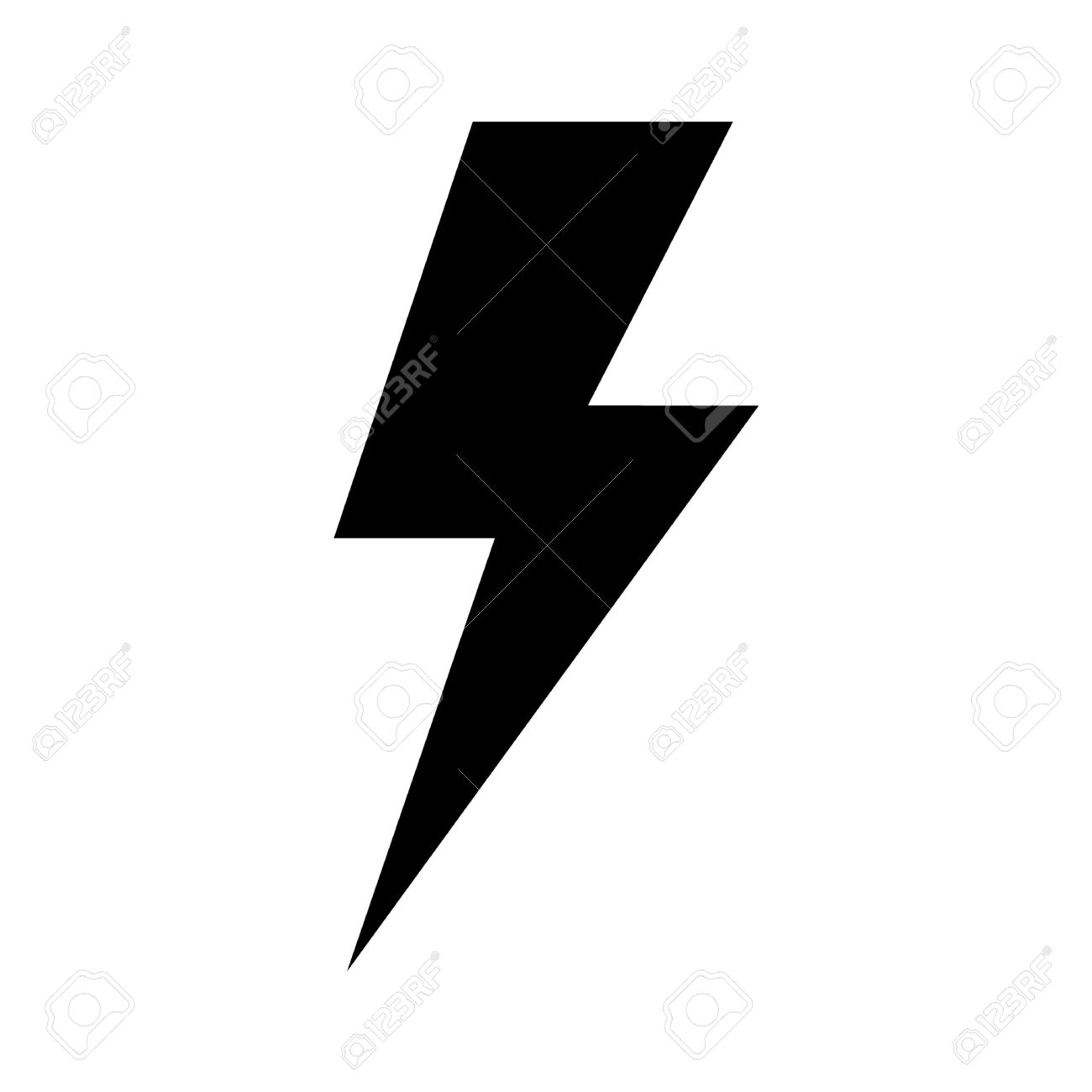 Lightning Bolt Expertise Flat Icon For Apps And Websites Royalty ... for Vector Lighting Bolt  103wja