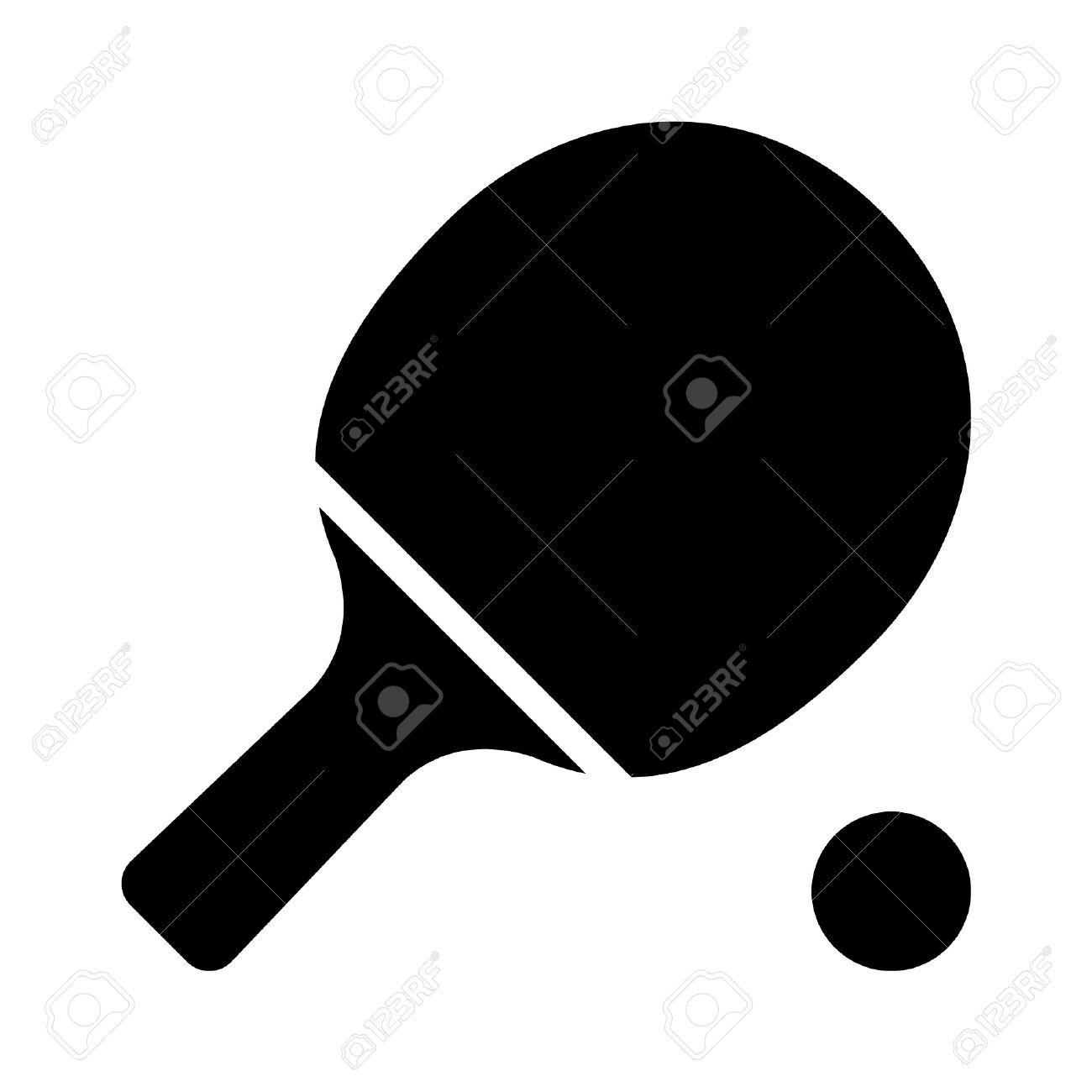 Ping Pong Pádel Con El Icono Plana Bola Ilustraciones Vectoriales ...