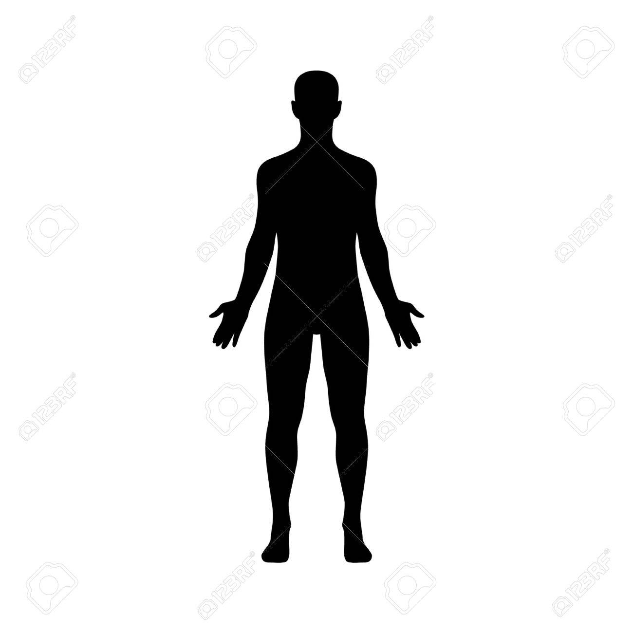 Male human body flat icon for app and website Stock Vector - 42410185