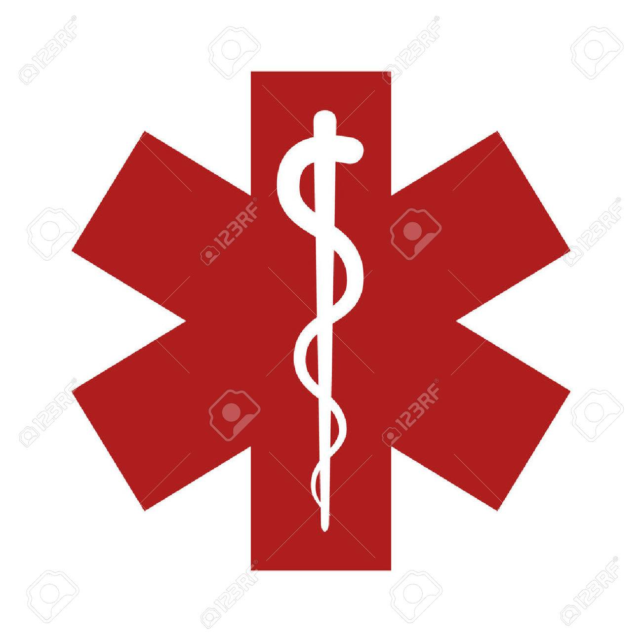 Medical Emergency Flat Icon For App And Website Royalty Free