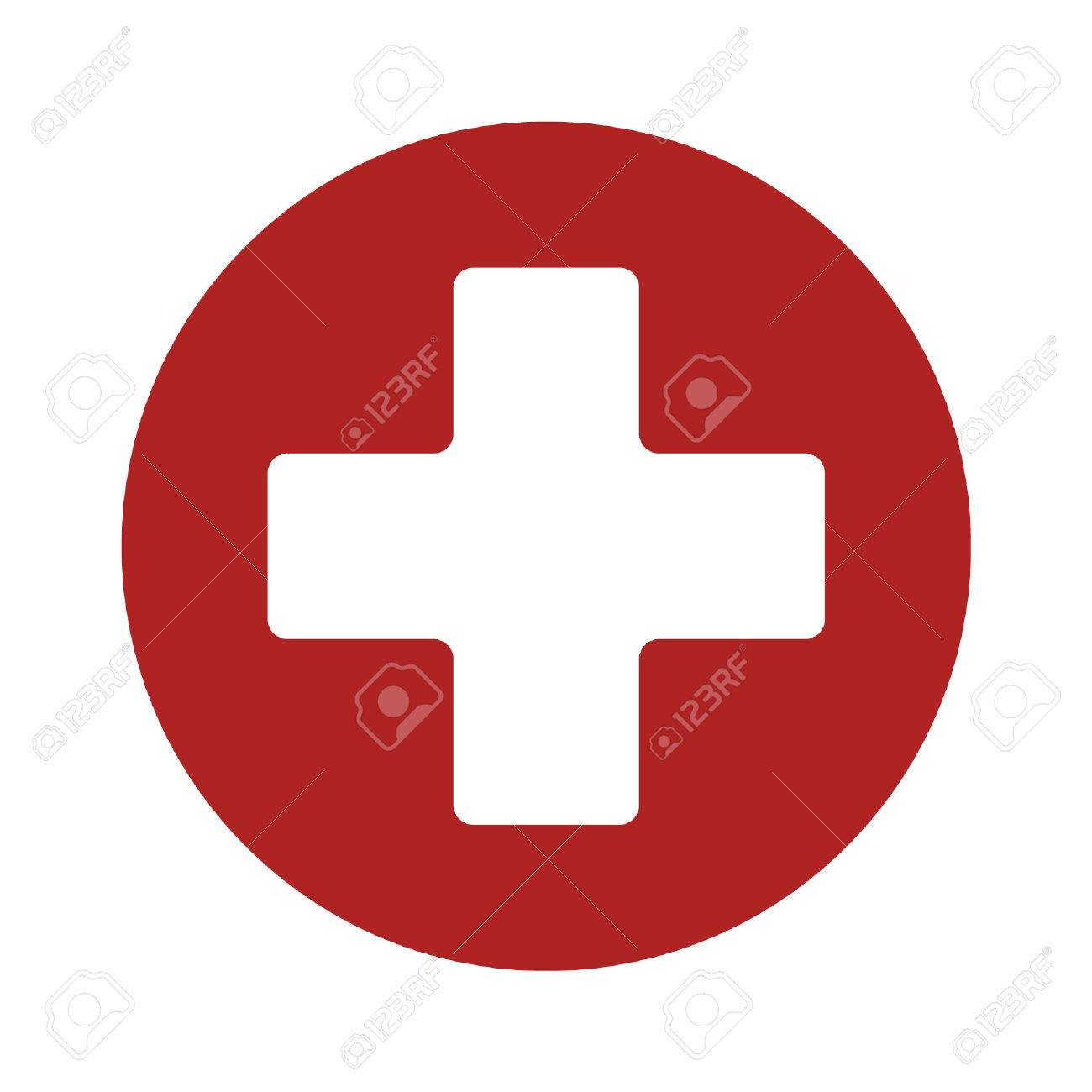 Erste-Hilfe-medizinische Zeichen Flach Symbol Für App Und Website ... | {Erste hilfe symbol 95}