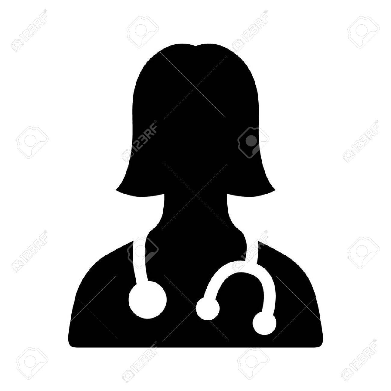 Female physician doctor - a provider of patient care flat icon for apps and websites - 42409532