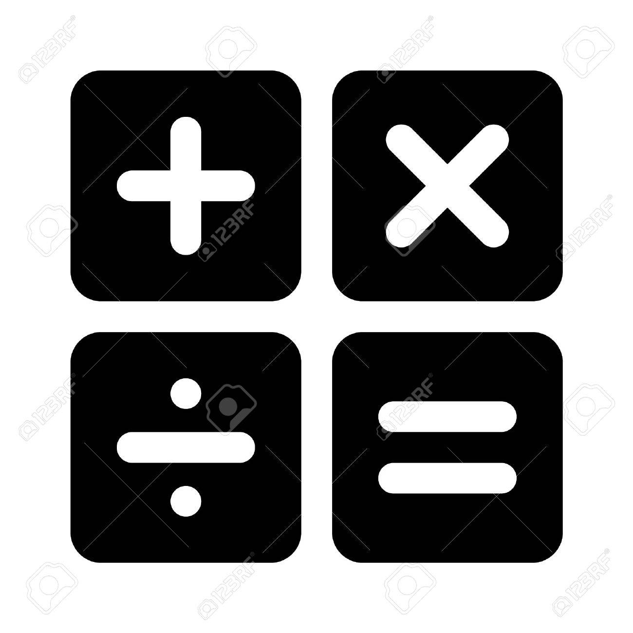 calculator arithmetic signs flat icon for apps royalty free cliparts