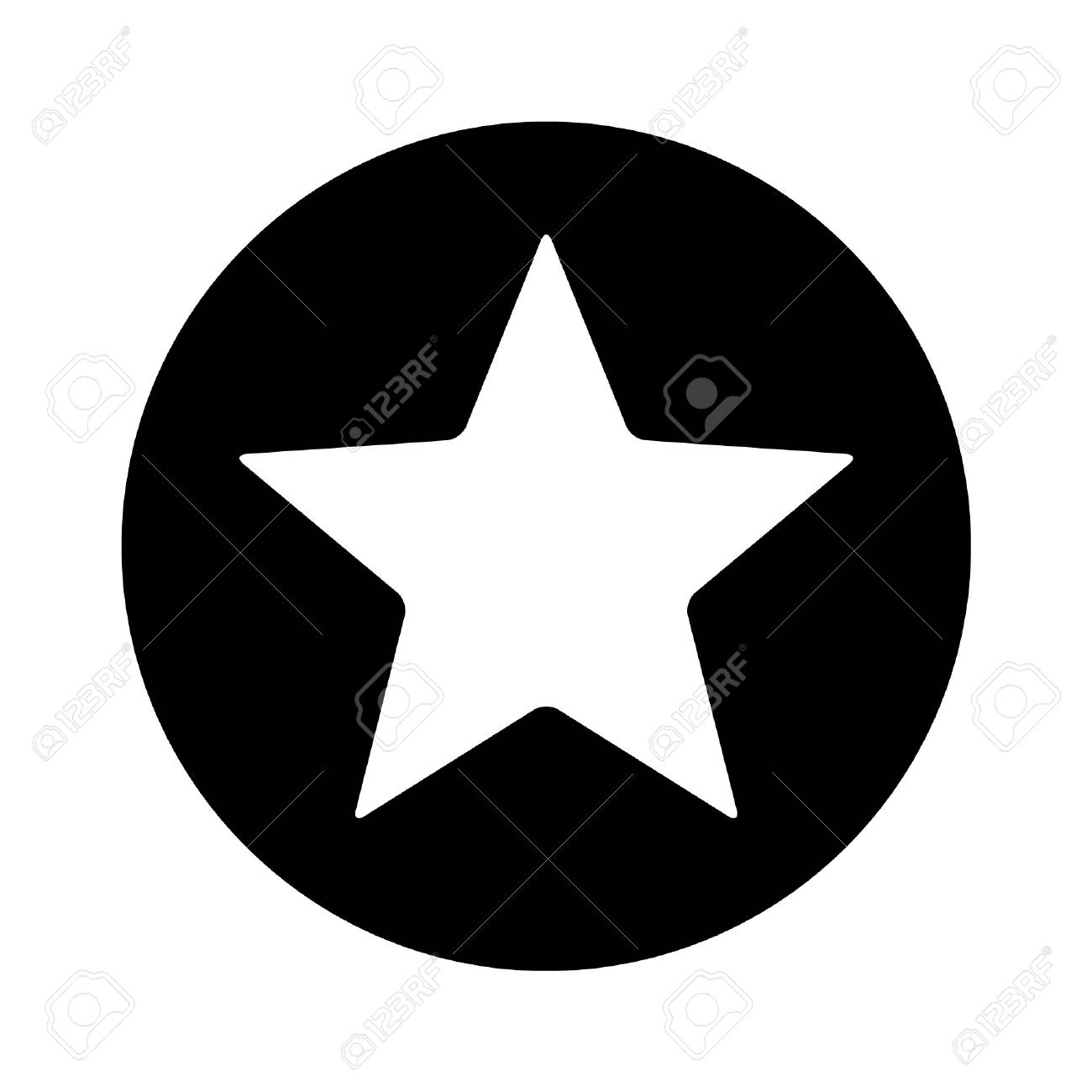 Star Inside Circle Flat Icon For Apps And Websites