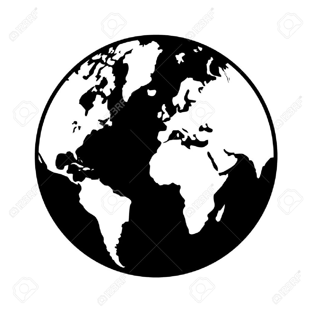 World globe map flat icon for apps and websites royalty free world globe map flat icon for apps and websites stock vector 42614015 gumiabroncs Images