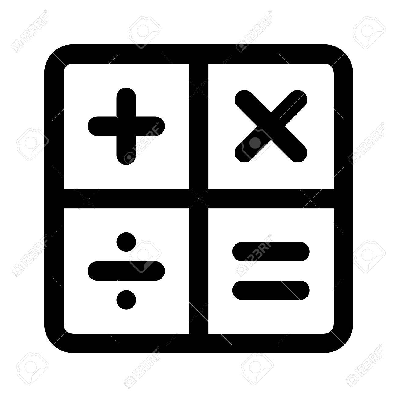 calculator arithmetic signs line art icon for apps royalty free