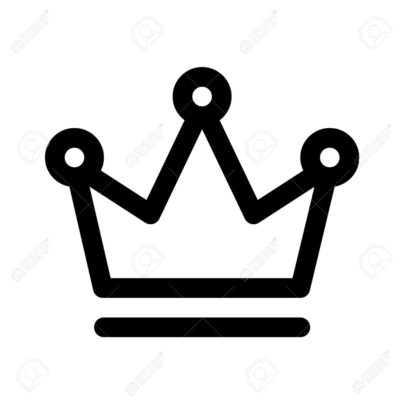 Crown Of The King Line Art Icon For Apps And Websites Stock Vector
