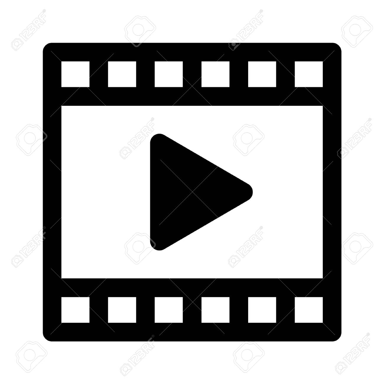Video Clip Play Line Art Icon For Apps And Websites Royalty Free Cliparts,  Vectors, And Stock Illustration. Image 42615284.