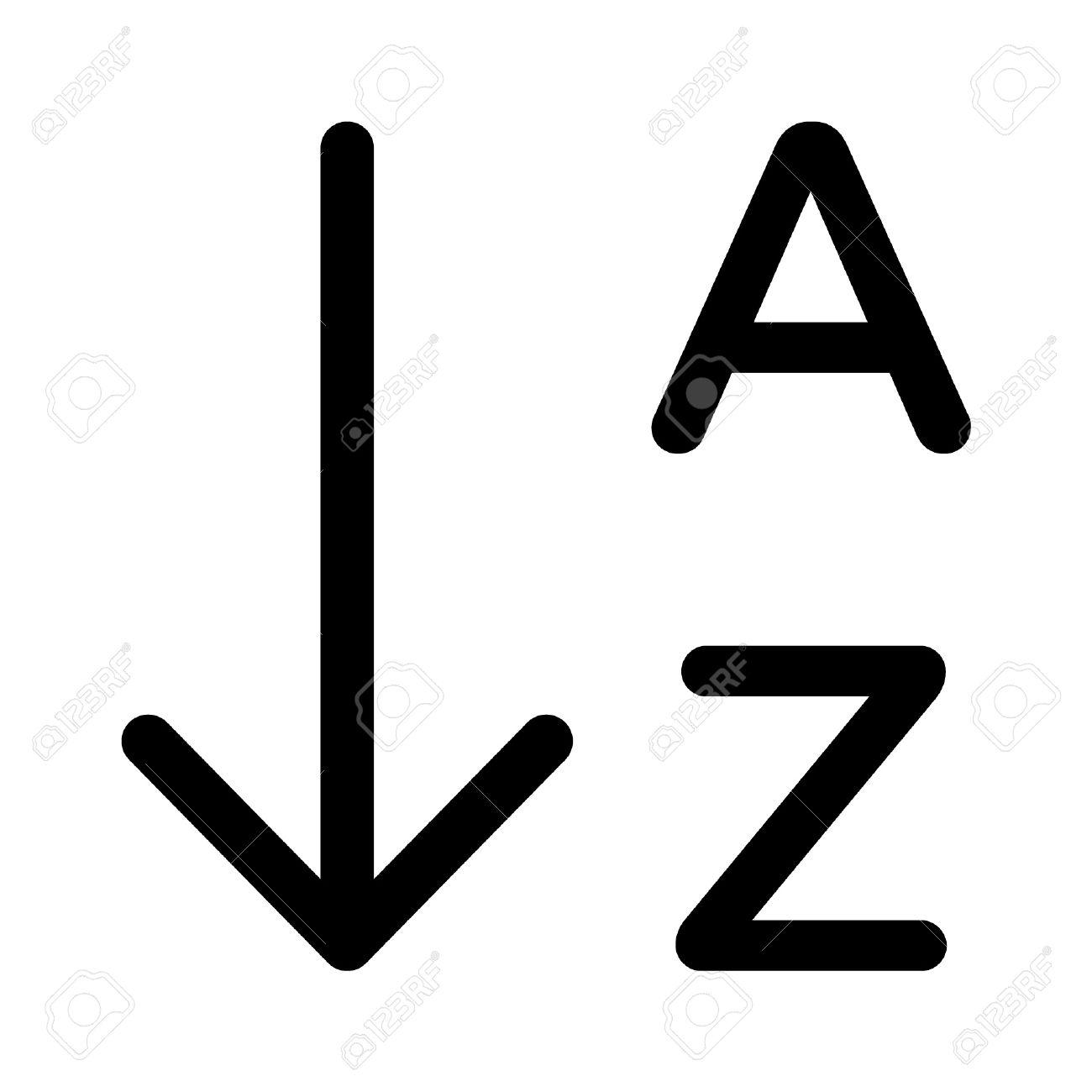 sort by alphabetical order list line art icon for apps and sort by alphabetical order list line art icon for apps and websites stock vector 42621252