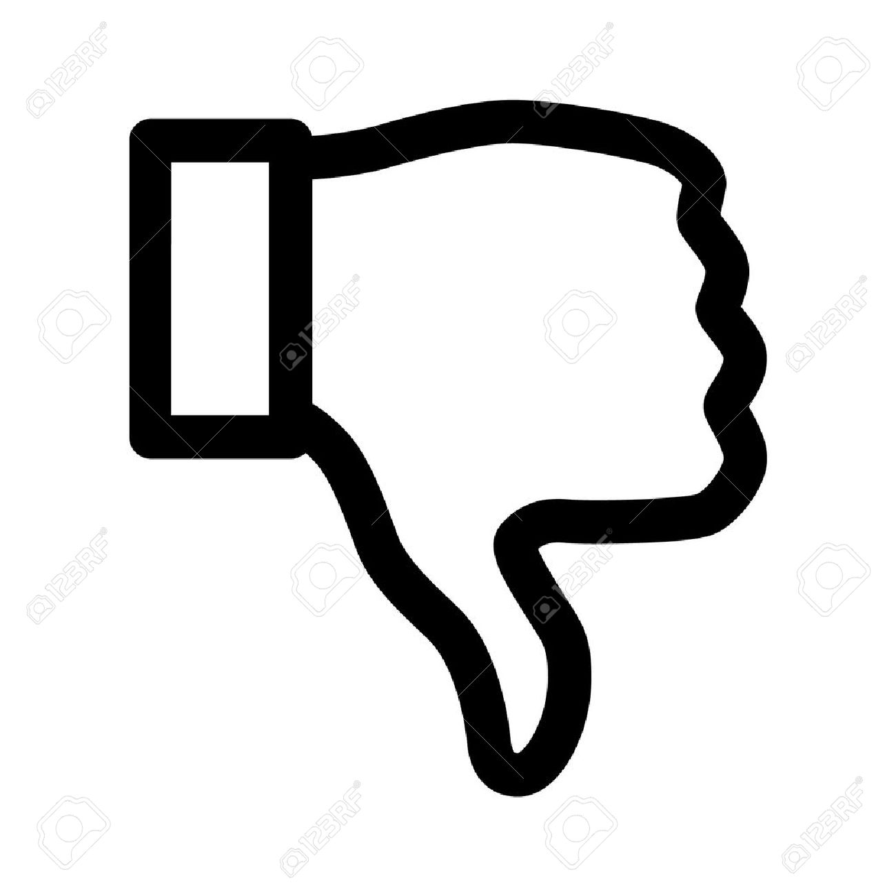 thumbs down dislike line art icon for apps royalty free cliparts
