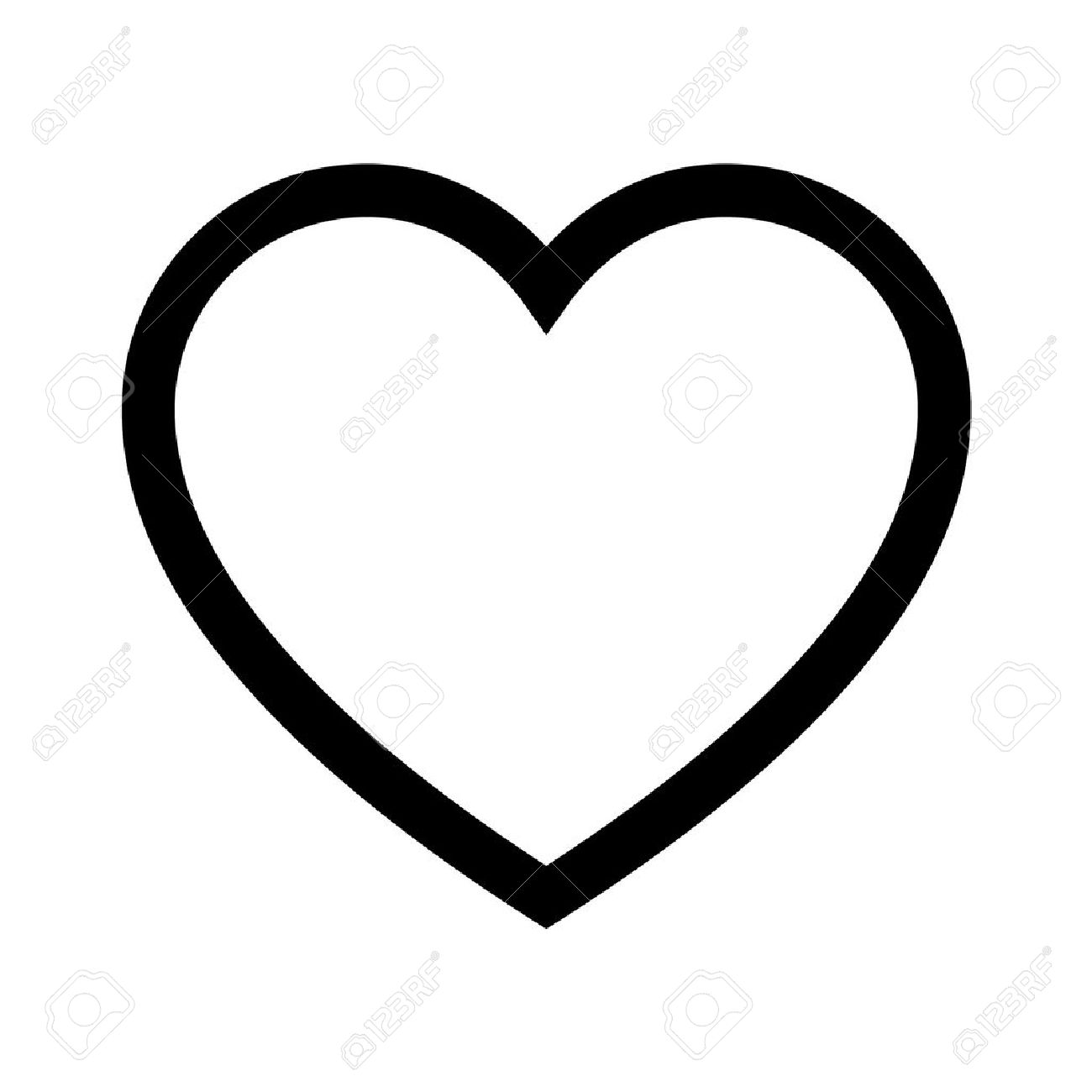 heart of love line art icon for apps and websites royalty free rh 123rf com heart line art png heart line art images