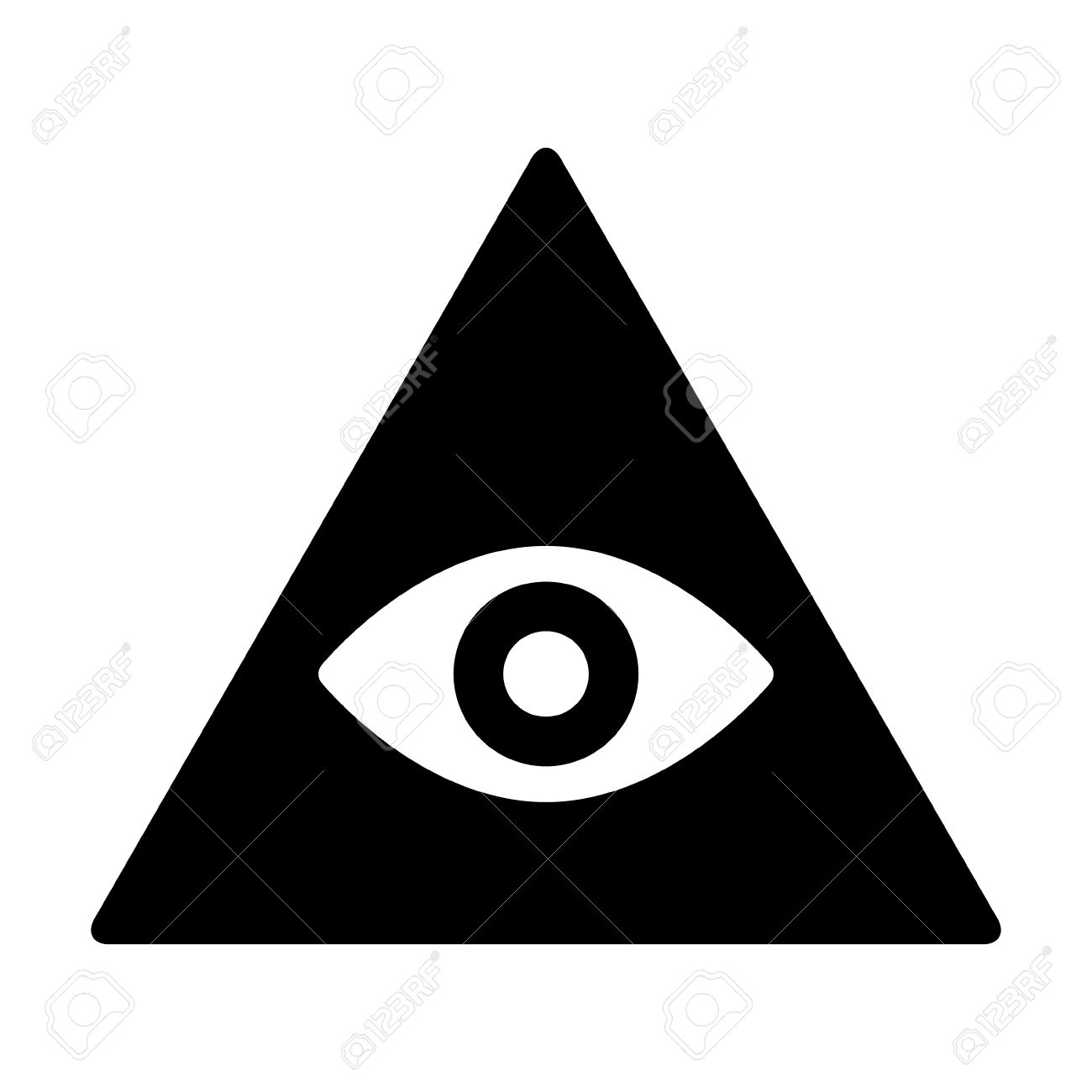 eye of providence or all seeing eye of god flat icon for apps rh 123rf com American Flag Vector eye of providence vector free