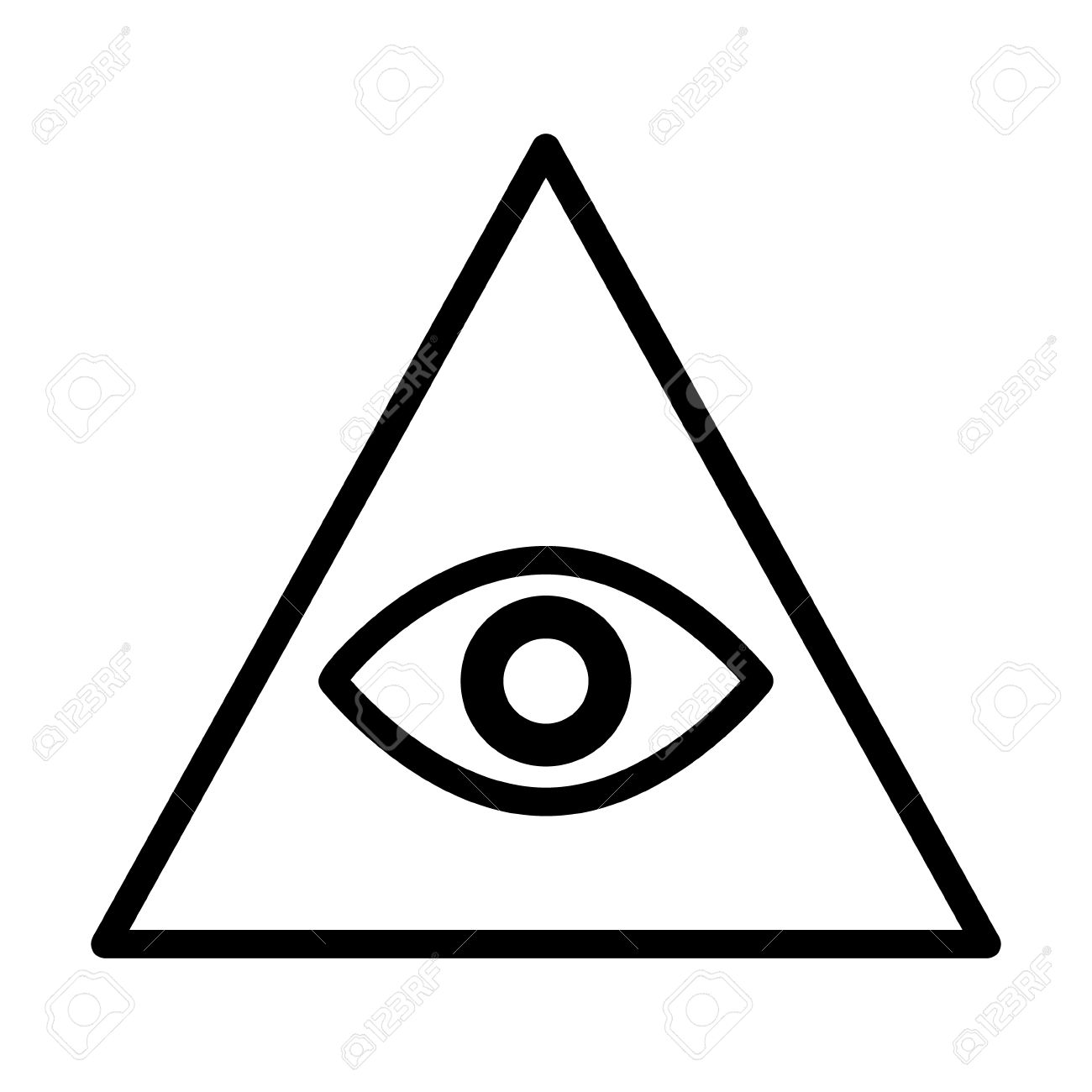 eye of providence or all seeing eye of god line art icon for rh 123rf com Jesus Vector eye of providence vector free