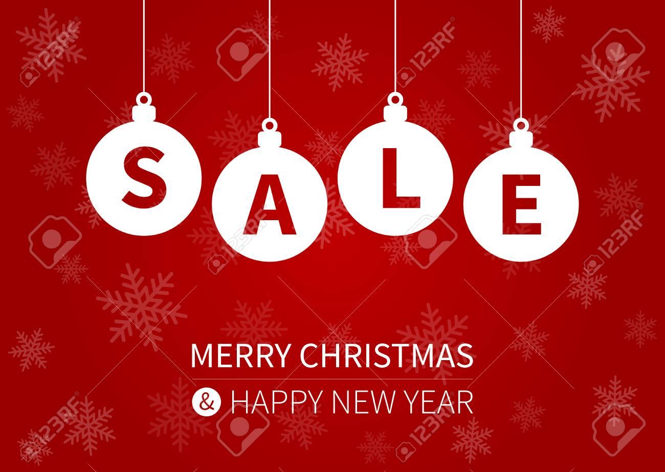 dd58b4b82cdb Merry Christmas sale promotion display poster postcard Stock Vector -  49795733
