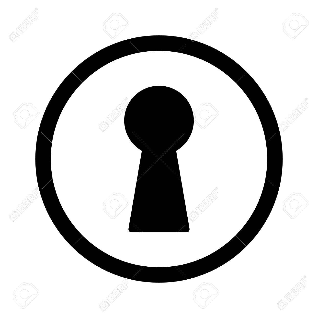 vintage door keyhole access line art icon for apps and websites rh 123rf com key in keyhole vector keyhole vector free download
