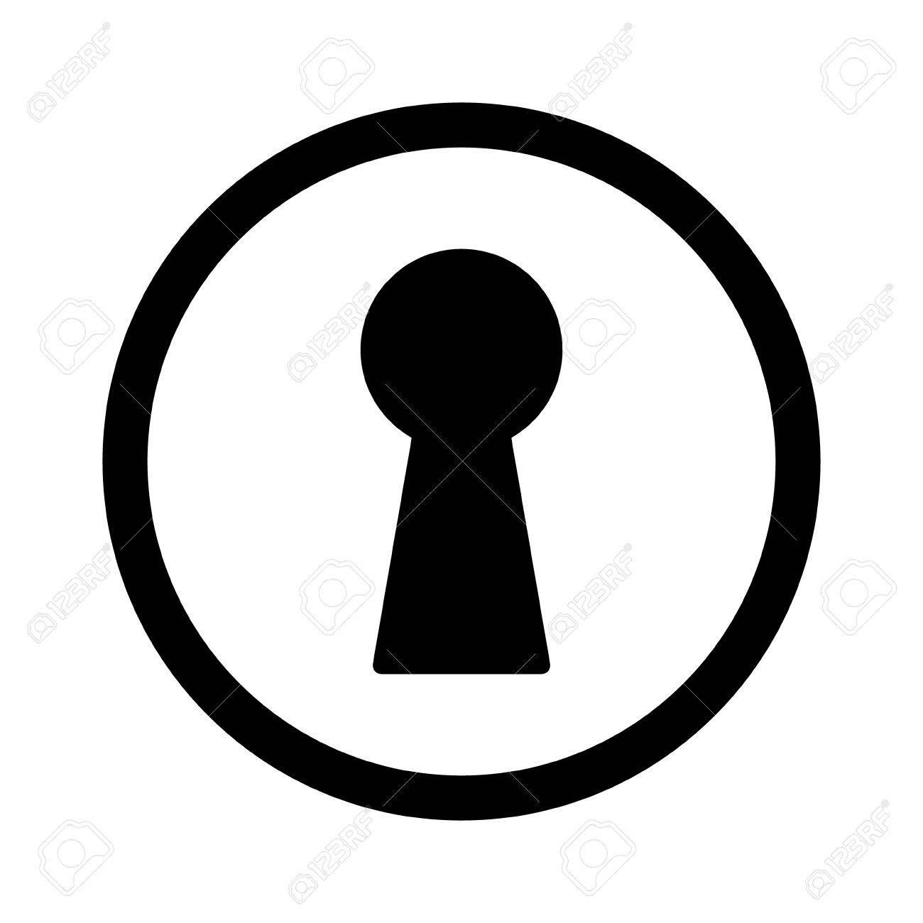 vintage door keyhole access line art icon for apps and websites rh 123rf com key in keyhole vector keyhole vector illustration