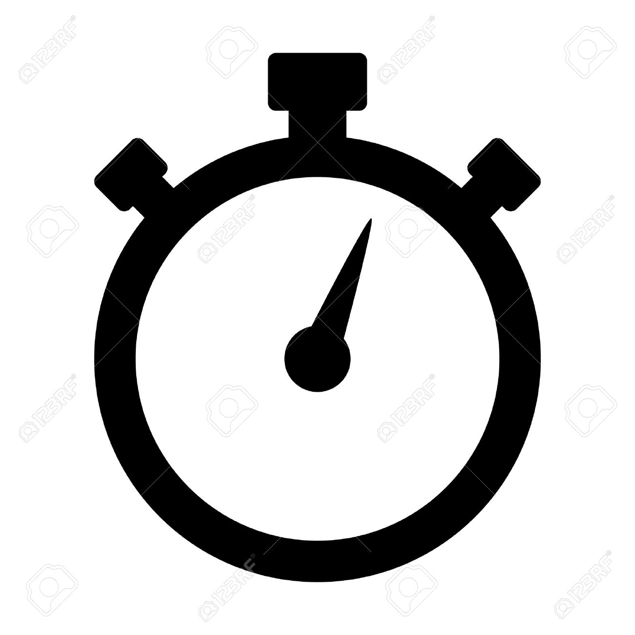 Stopwatch timer flat icon for apps and websites - 49796812