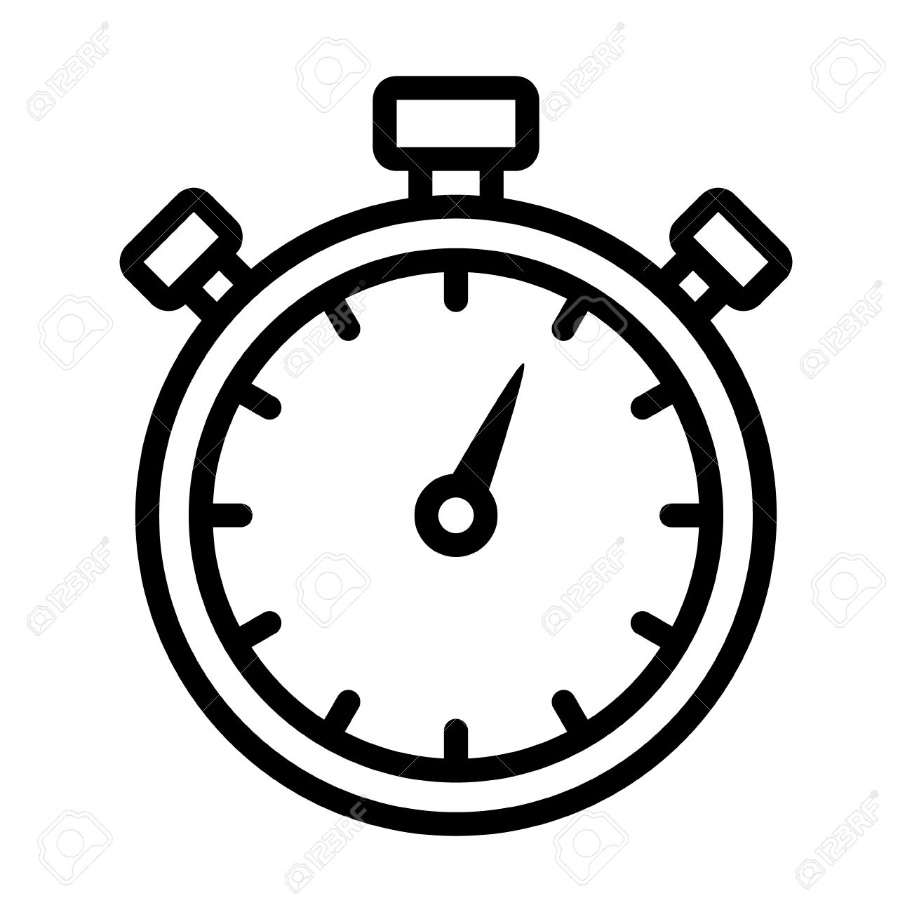 stopwatch timer line art icon for apps and websites royalty free rh 123rf com time clip art images timer clipart gif