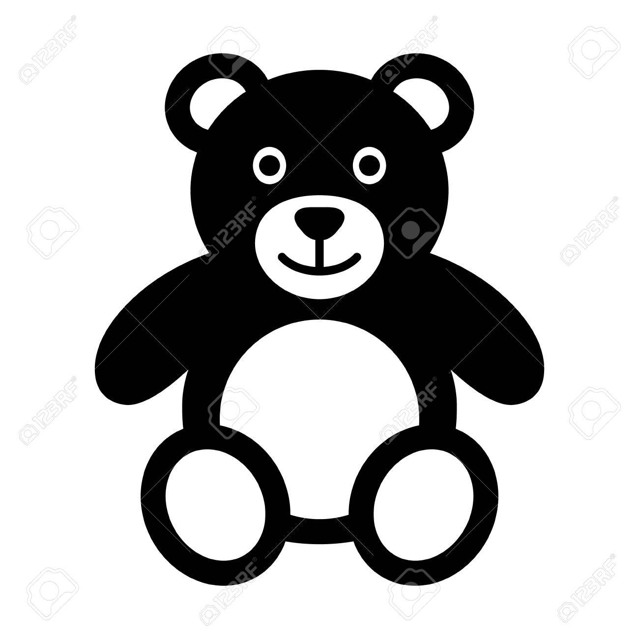 Teddy bear plush toy flat icon for apps and websites - 50016428