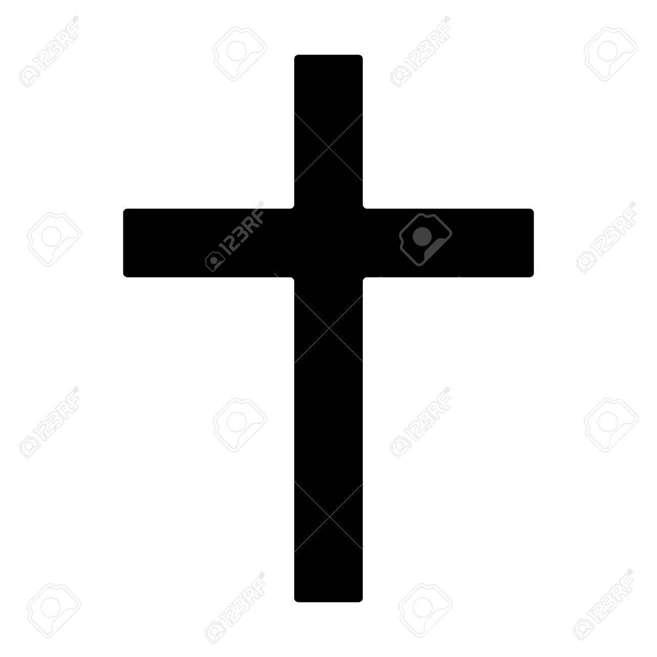 Christian Cross Symbol Of Christianity Flat Icon For Apps And