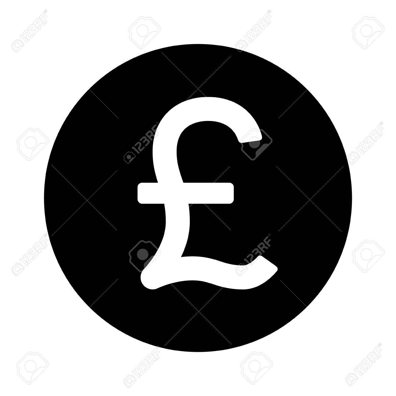 La Livre Sterling Ronde Autour De L Icone Plate Symbole De Monnaie Pour Les Applications Et Les Sites Web