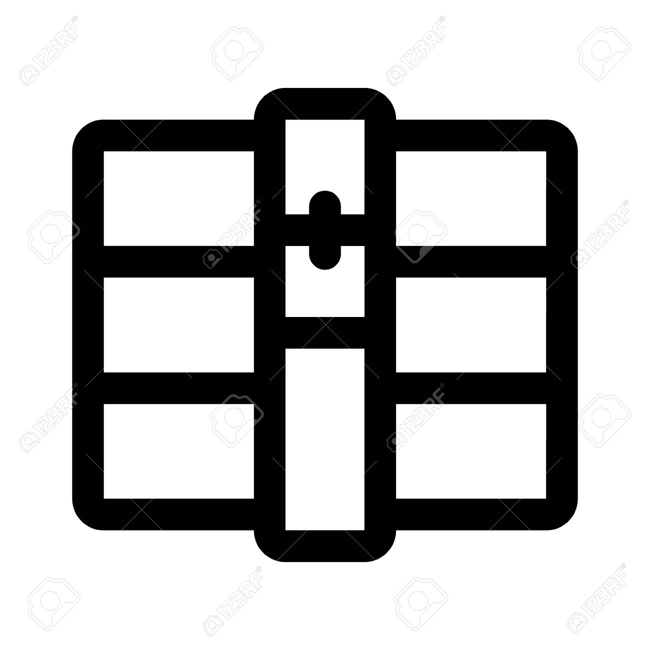 rar unrar file archive line art icon for apps and websites