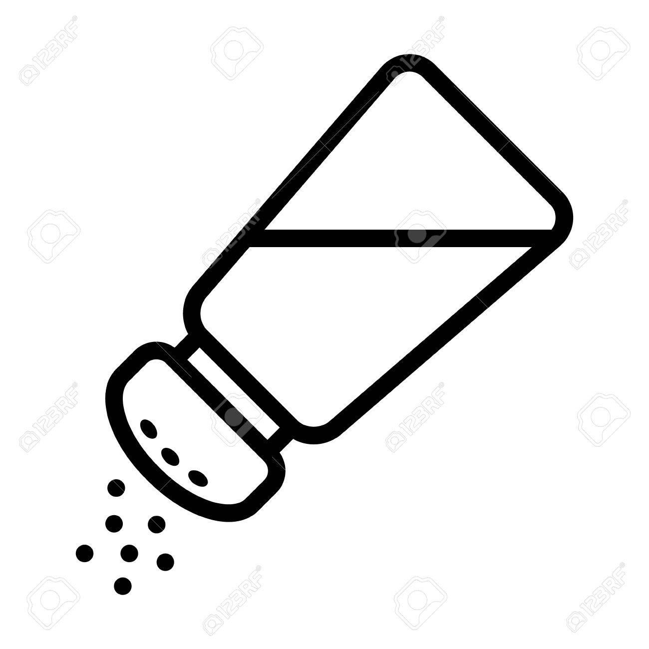 Salt shaker seasoning line icon for food apps and websites - 50762926