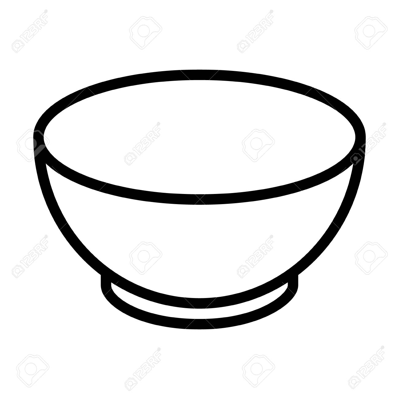 soup bowl dishware line art icon for food apps and websites royalty rh 123rf com  soup bowl clipart black and white