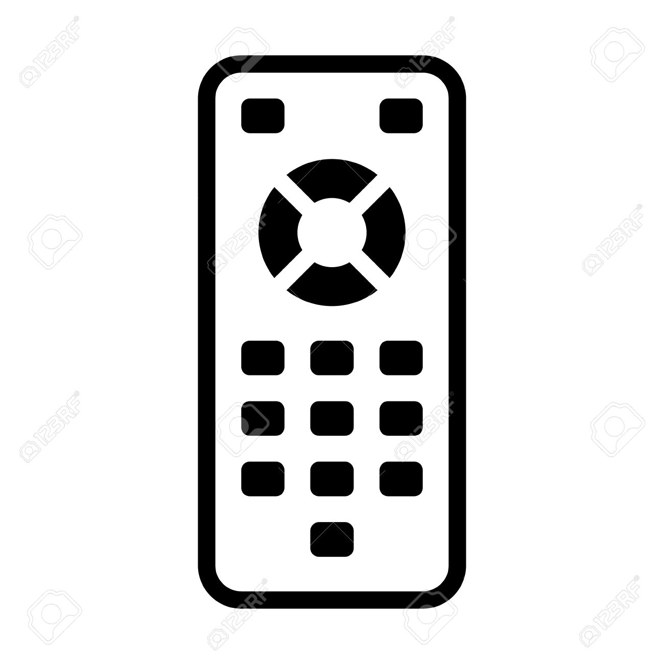 TV remote control line art icon for apps and websites - 50764932