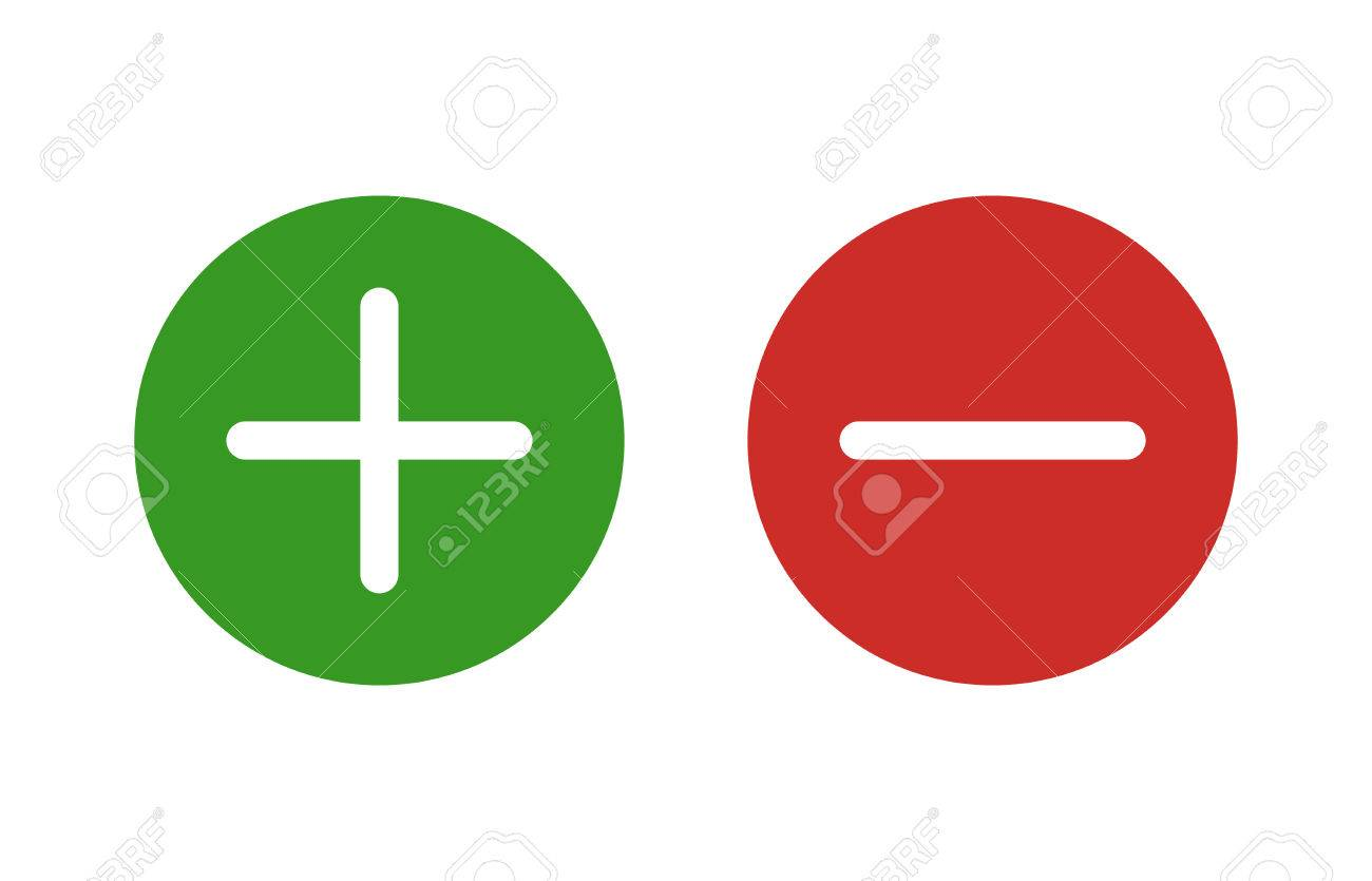 Plus and minus or add and subtract flat color icon for apps and websites. - 50897089