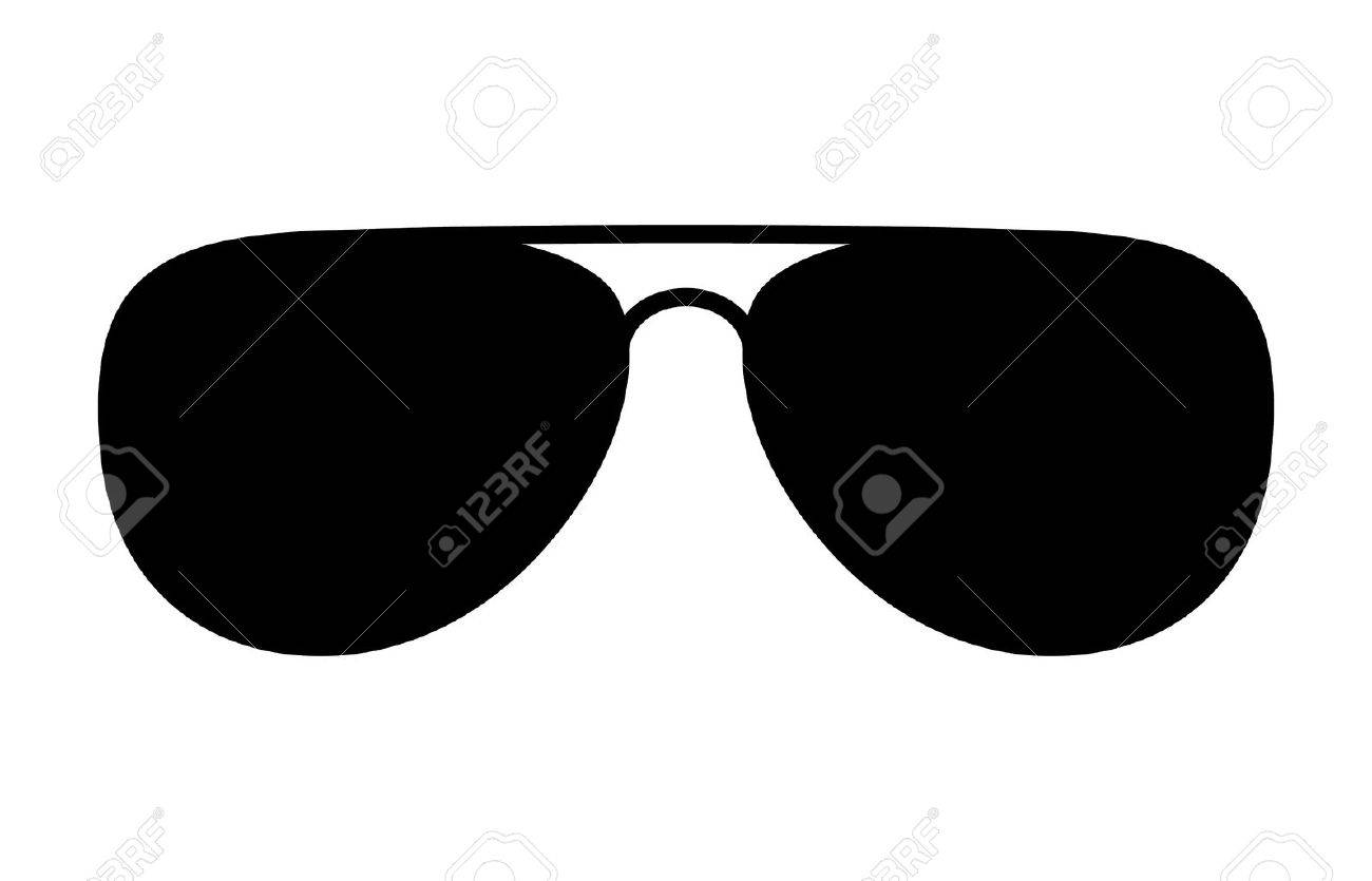 Aviator sunglasses shades protective eyewear flat icon for apps and websites - 51678434