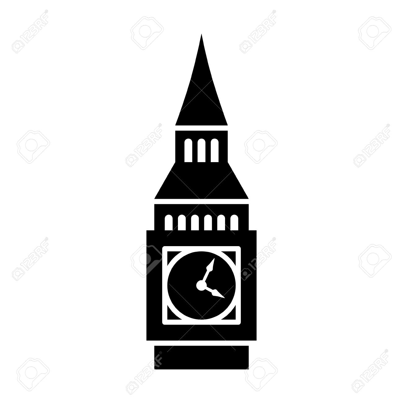 big ben clock tower elizabeth tower in london flat icon for rh 123rf com big ben vector image big ben vector clip art free