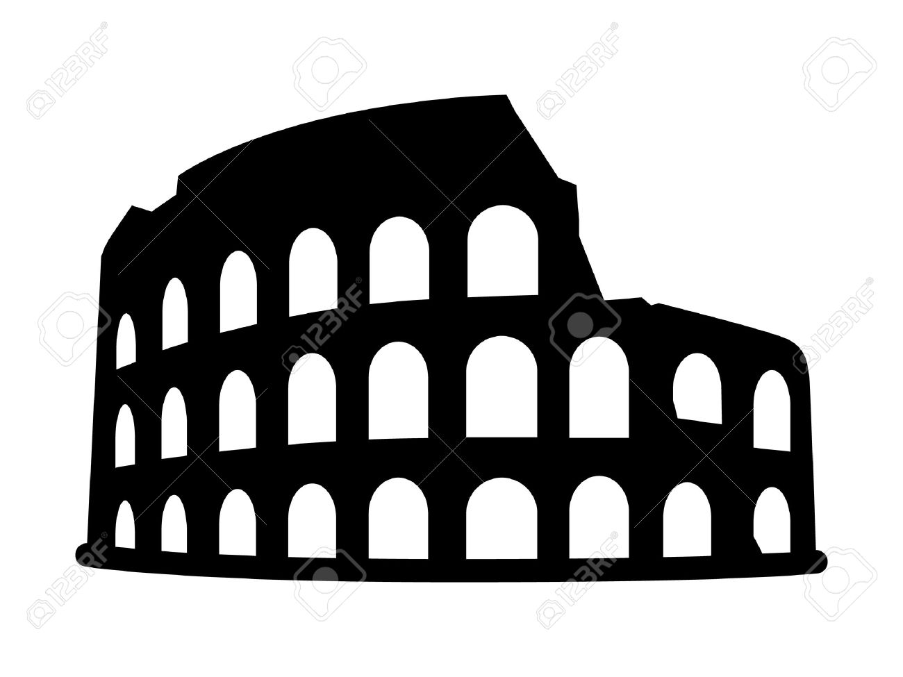 Colosseum coliseum in rome italy flat icon for travel apps colosseum coliseum in rome italy flat icon for travel apps and websites stock vector biocorpaavc