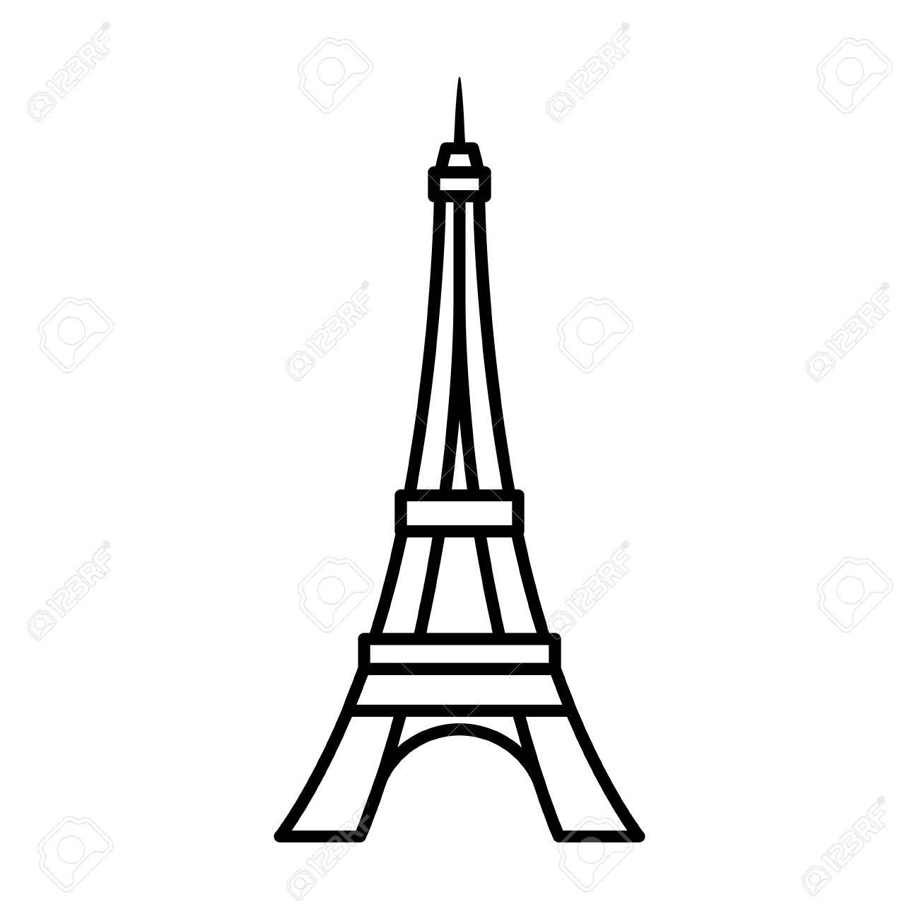 Super Eiffel Tower Tour Eiffel In Paris Line Art Icon For Apps And  JB75