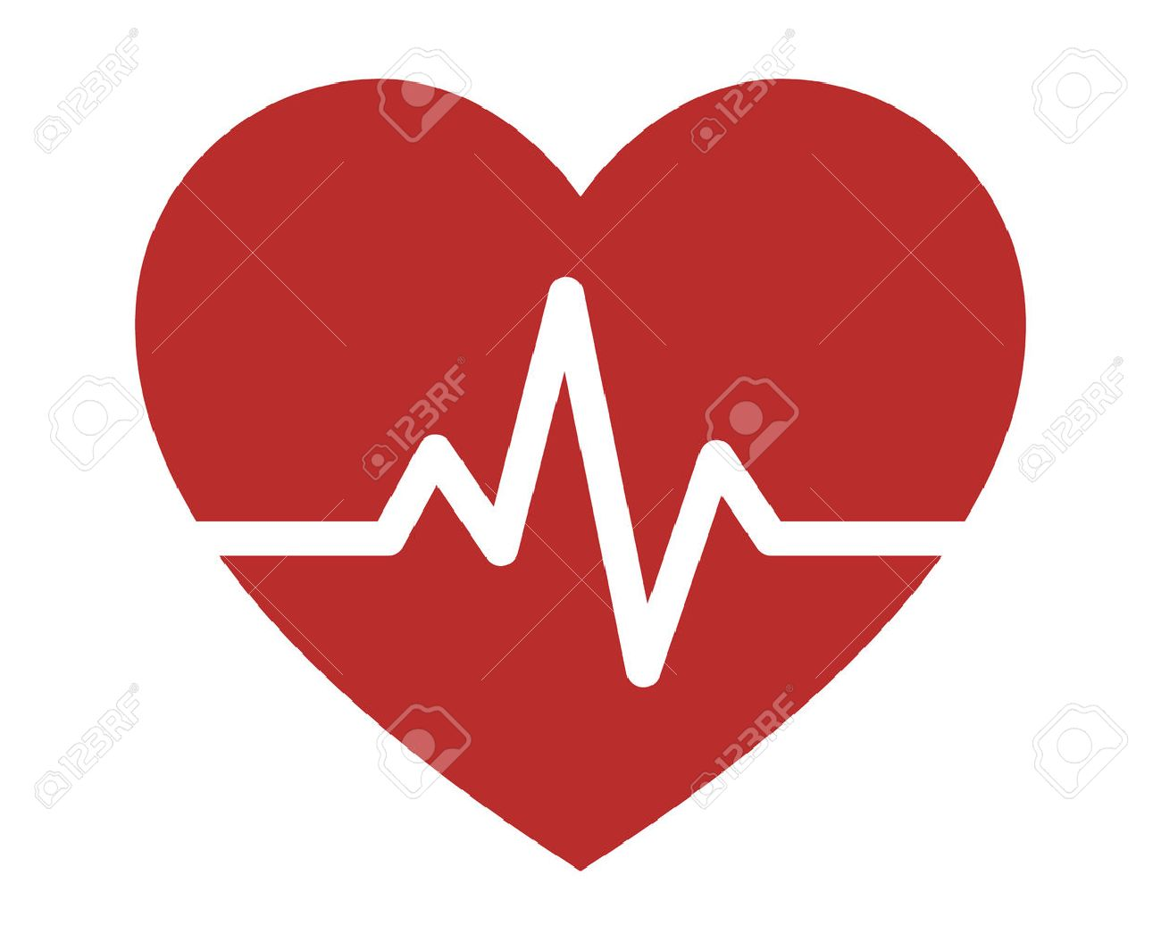 Heartbeat / heart beat pulse flat icon for medical apps and websites - 55005065