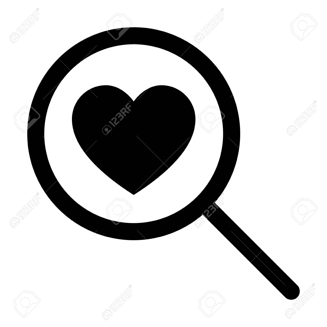 Find love or searching for love line art icon for dating apps and websites stock vector