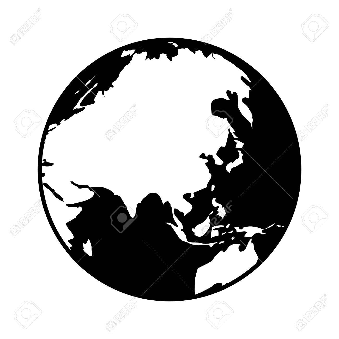 World map globe or planet earth showing asia flat icon for apps world map globe or planet earth showing asia flat icon for apps and websites stock vector gumiabroncs Gallery