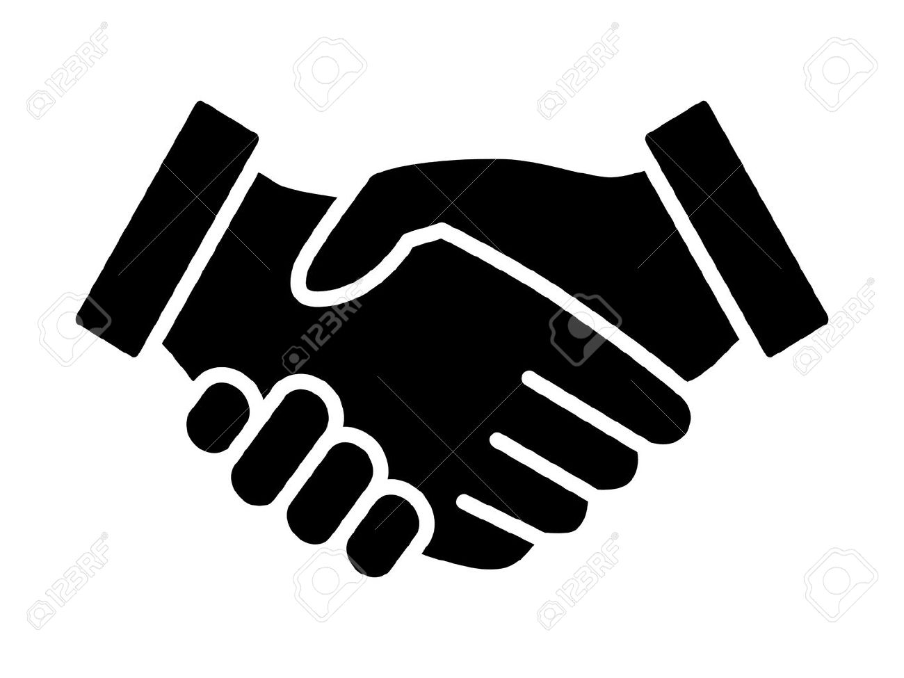 Business agreement handshake or friendly handshake line art icon for apps and websites - 55731519