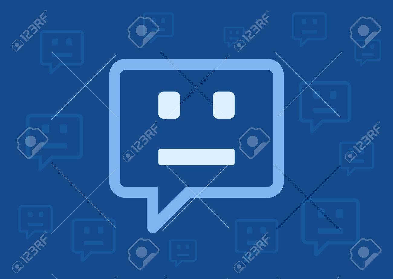 Chatbot / chat bot / chatterbot flat vector illustration for websites - 55731621