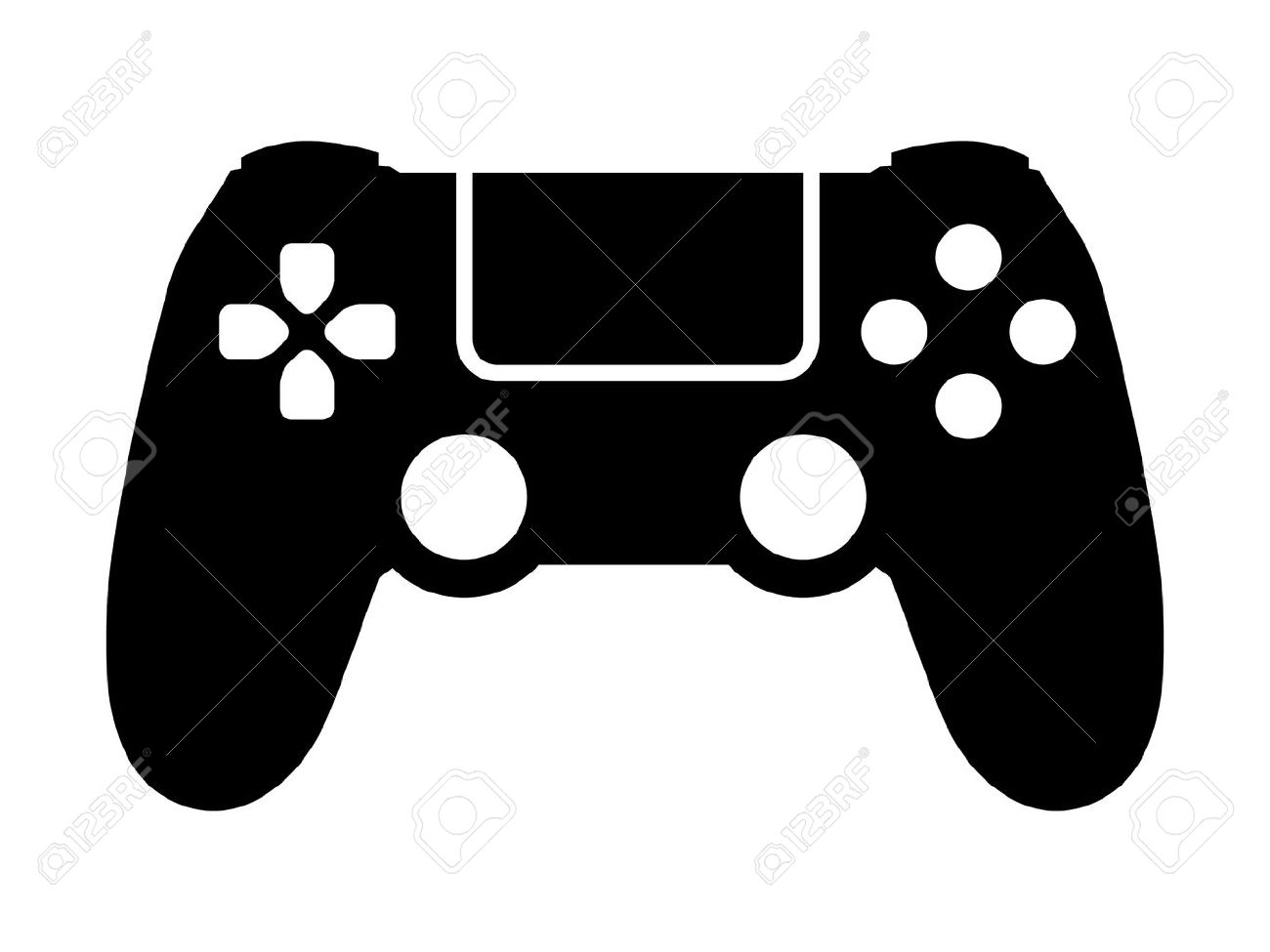 Video game controller / gamepad flat icon for apps and websites - 55731734