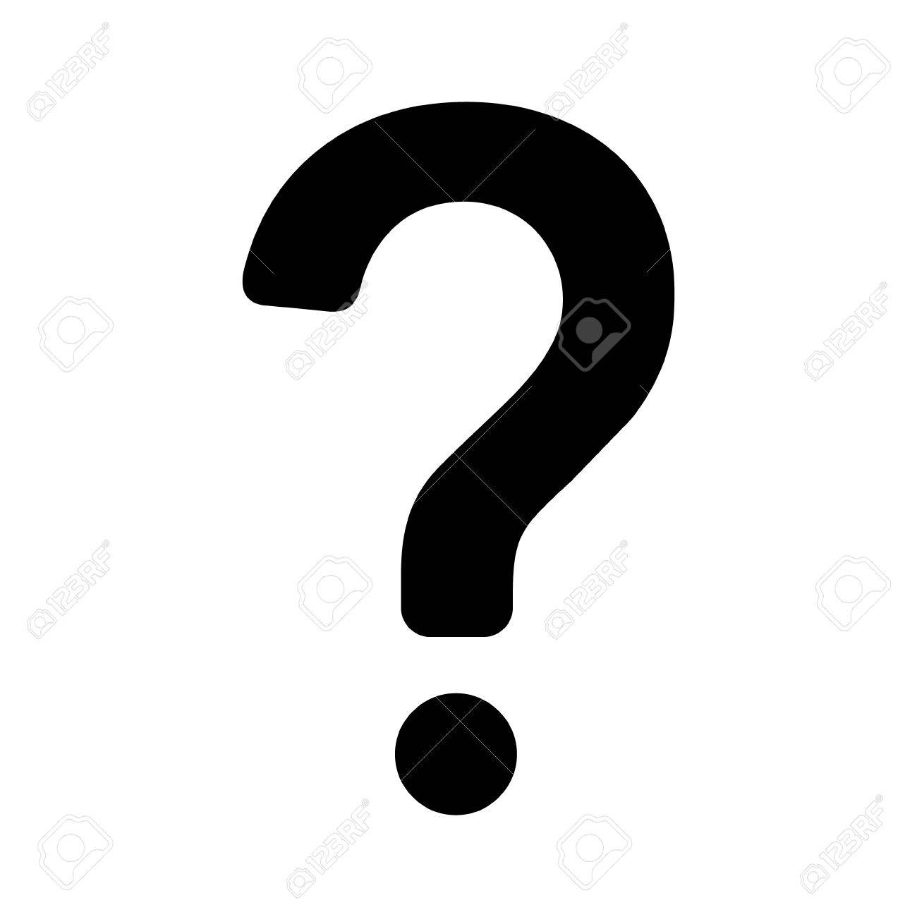 Question mark flat icon for apps and websites - 56300738