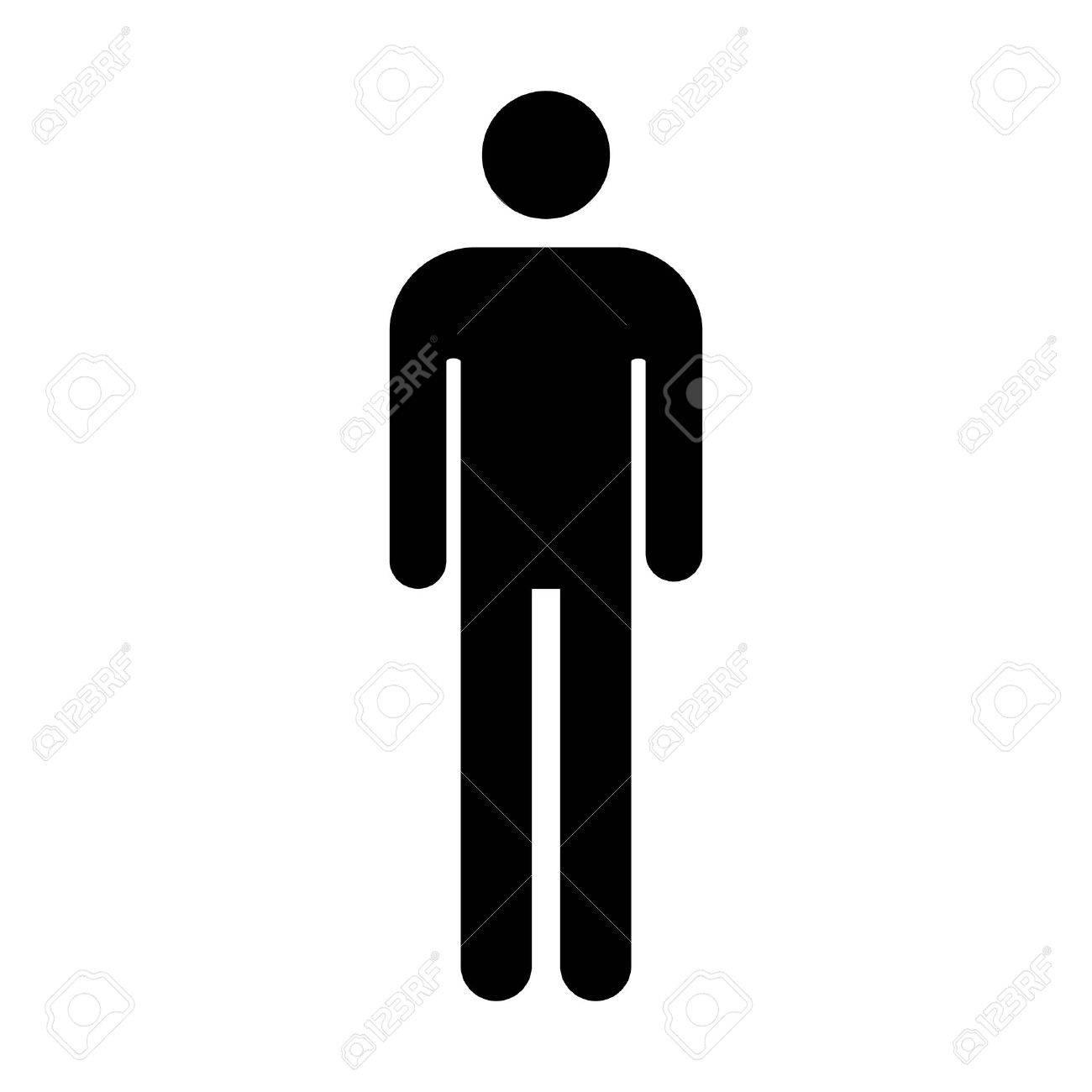 man of mannen's badkamer / toilet teken vlakke icoon voor apps en, Badkamer